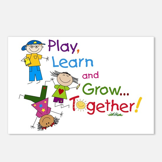 Play, Learn, Grow Togethe Postcards (Package of 8)