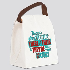 There Their and Theyre Canvas Lunch Bag