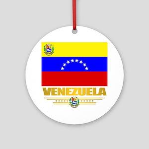 Flag of Venezuela Round Ornament
