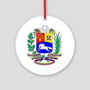 Venezuela COA Round Ornament