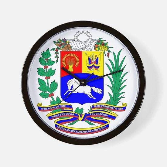 Venezuela COA Wall Clock