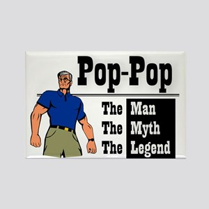 Pop-Pop The Man, The Myth, The Le Rectangle Magnet