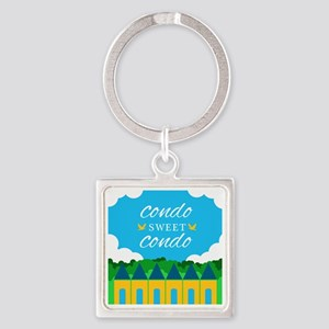 Condo Sweet Condo Square Keychain