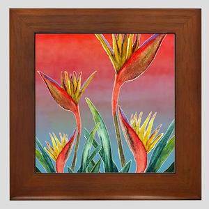 Bird of Paradise Framed Tile