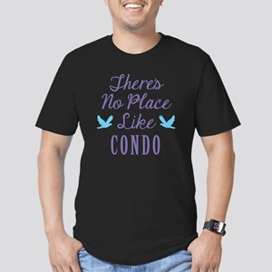 Theres No Place Like C Men's Fitted T-Shirt (dark)