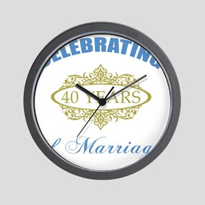 Celebrating 40 Years Of Marriage Wall Clock