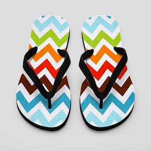 Summer Cool Chevron Stripes Flip Flops
