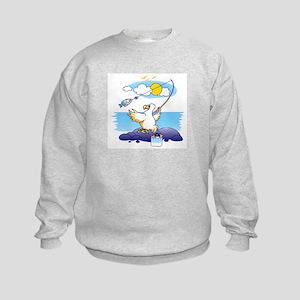 dodo is fishing Kids Sweatshirt