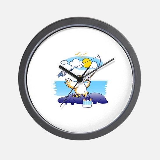 dodo is fishing Wall Clock