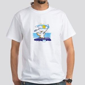 dodo is fishing White T-Shirt