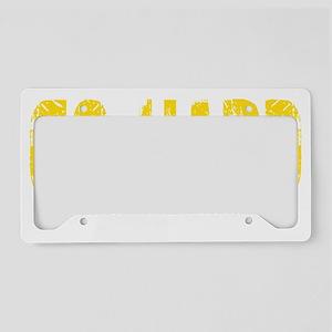 GO HARD - YELLOW License Plate Holder