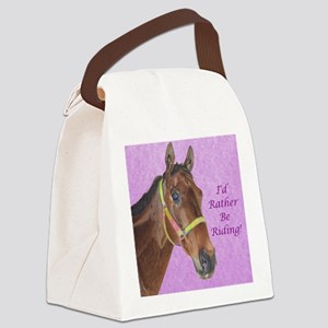 Pretty Thoroughbred Horse Canvas Lunch Bag