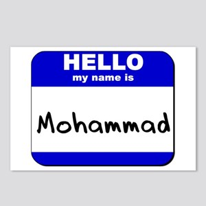 hello my name is mohammad  Postcards (Package of 8