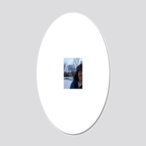 shane in winter 20x12 Oval Wall Decal