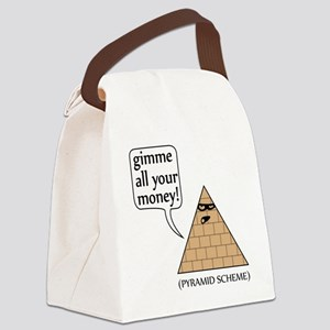 Gimme all your money! Canvas Lunch Bag