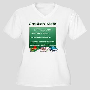 Christian Math Women's Plus Size V-Neck T-Shirt