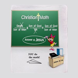 Christian Math Throw Blanket