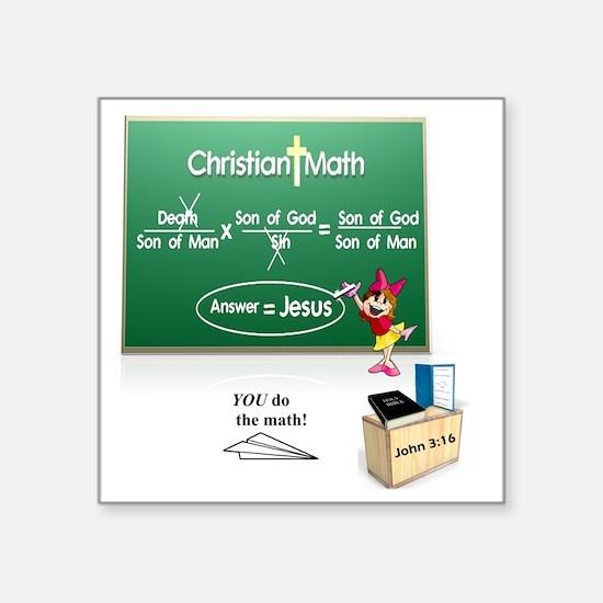 "Christian Math Square Sticker 3"" x 3"""