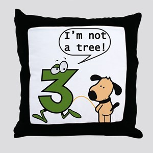 Doggie Pissing a 3 Throw Pillow