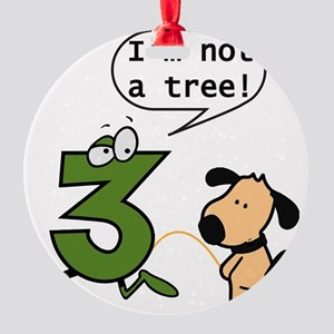Doggie Pissing a 3 Round Ornament