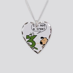 Doggie Pissing a 3 Necklace Heart Charm