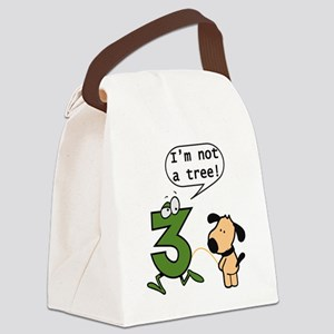 Doggie Pissing a 3 Canvas Lunch Bag