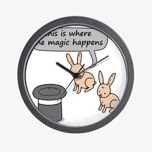 Rabbits and Magic Wall Clock
