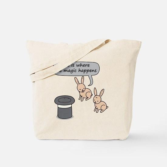 Rabbits and Magic Tote Bag