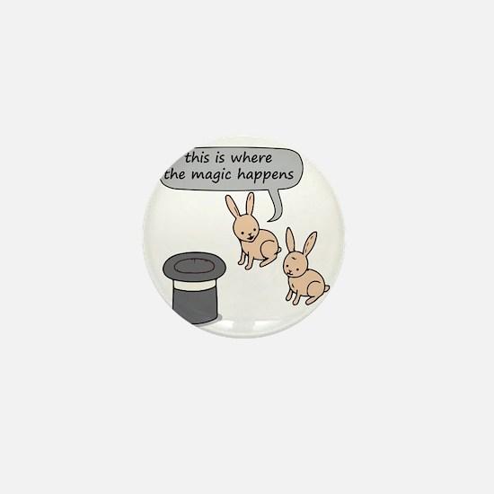 Rabbits and Magic Mini Button