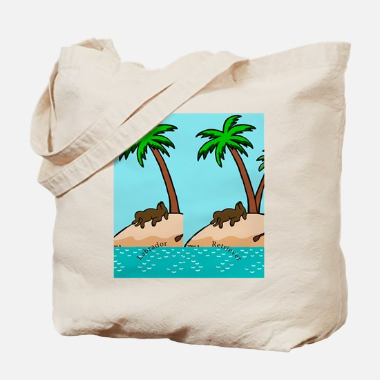 Chocolate Labrador Island Tote Bag