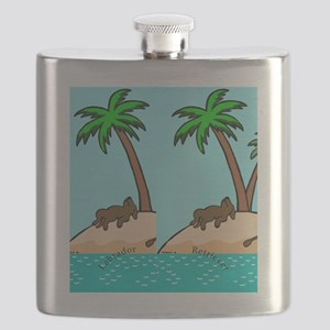 Chocolate Labrador Island Flask