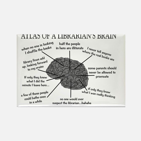 Librarian Humor Rectangle Magnet