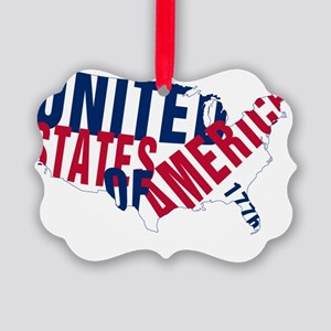 USA since 1776 Picture Ornament