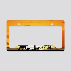 Wild Animals on African Savan License Plate Holder