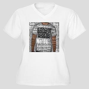 Geek Invisibility Women's Plus Size V-Neck T-Shirt