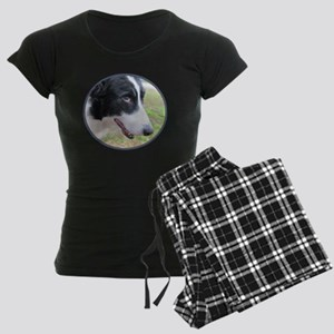 Sweet Border Collie Women's Dark Pajamas