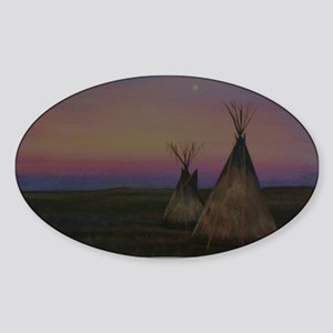 Tepees Sticker (Oval)