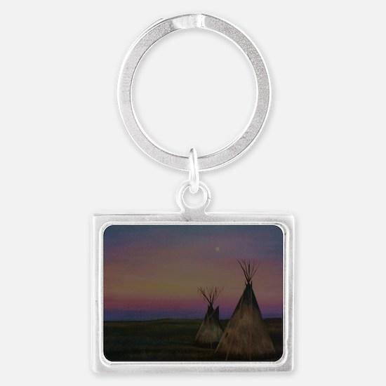 Tepees Landscape Keychain