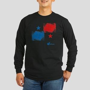 Panama Flag Long Sleeve Dark T-Shirt