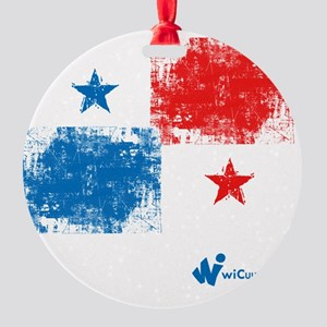 Panama Flag Round Ornament