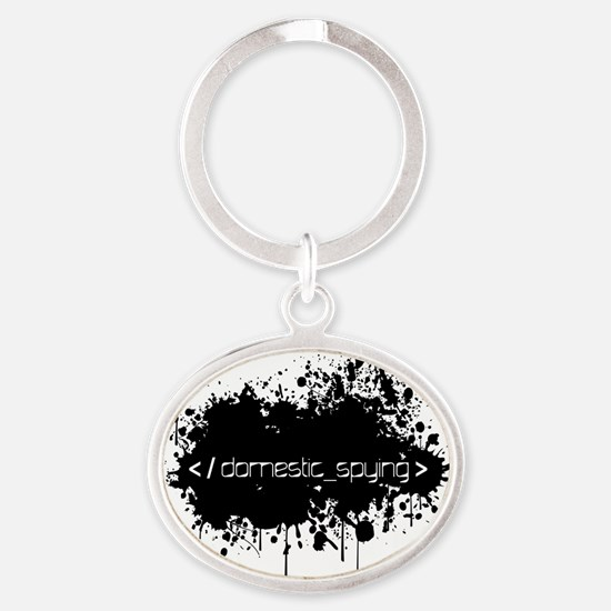 End Domestic Spying Oval Keychain