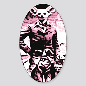 fennec fox Of the revolution Sticker (Oval)