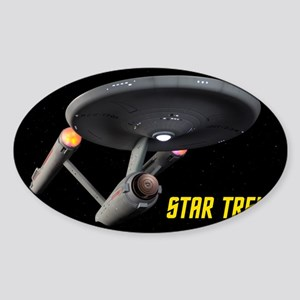 USS Enterprise High Resolution Sticker (Oval)
