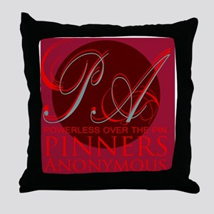 Pinner Anonymous Throw Pillow