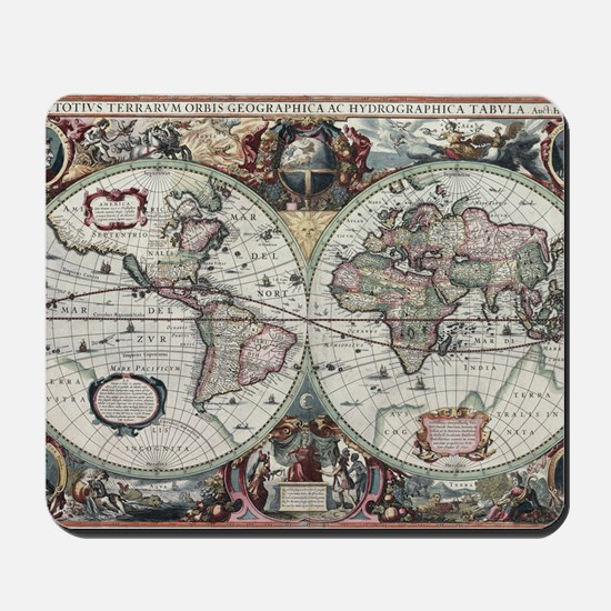 Old World Map 1630 Mousepad
