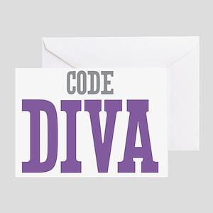Code DIVA Greeting Card