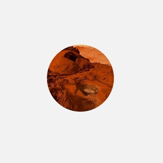 Mars landscape Mini Button