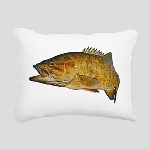 Smallmouth Bass Rectangular Canvas Pillow
