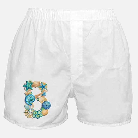 BEACH THEME INITIAL B Boxer Shorts