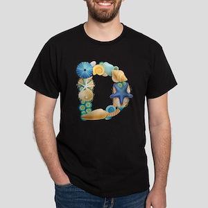 BEACH THEME INITIAL D Dark T-Shirt